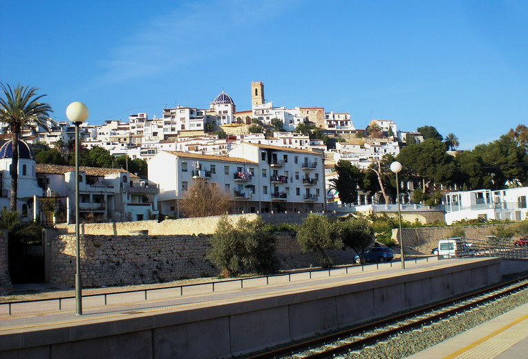 altea from train station cafe Four Fun Things To See and Do in Altea, Spain (And Don't Miss The Train Station!)