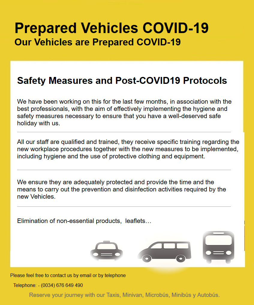 Page Prepared Vehicles COVID 19: Our Vehicles are Prepared COVID 19