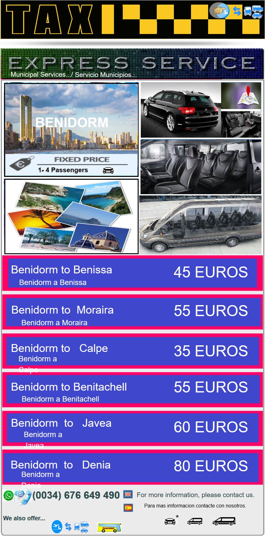 EXPRESS SERVICE Benidorm  EXPRESS SERVICE