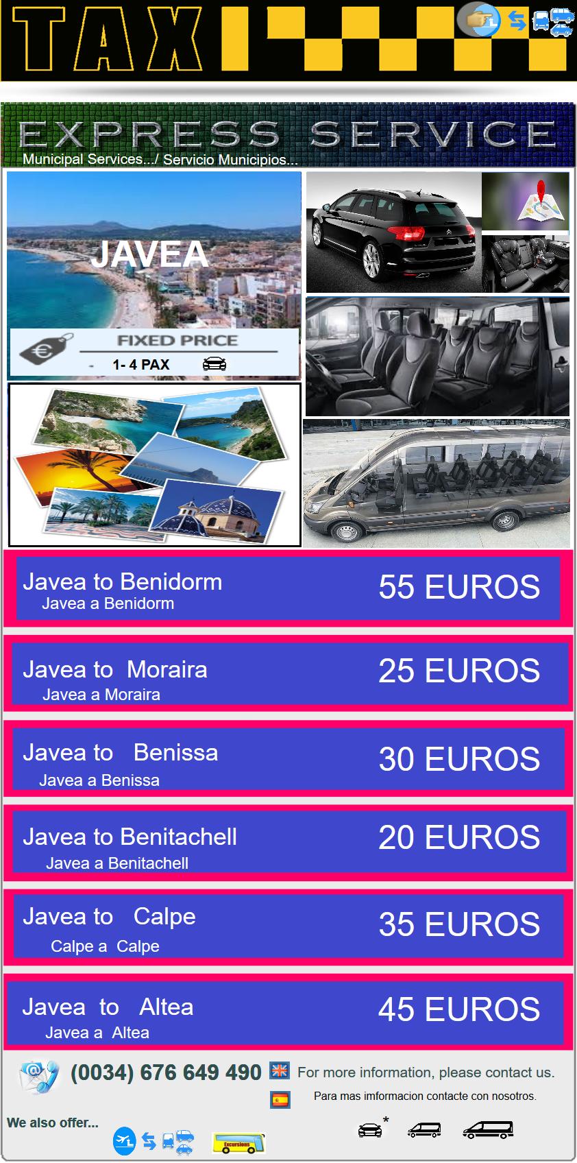 EXPRESS SERVICE Javea  EXPRESS SERVICE